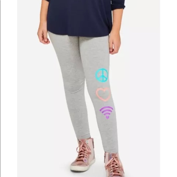 Justice Other - Girls Justice plus size  heather cotton leggings